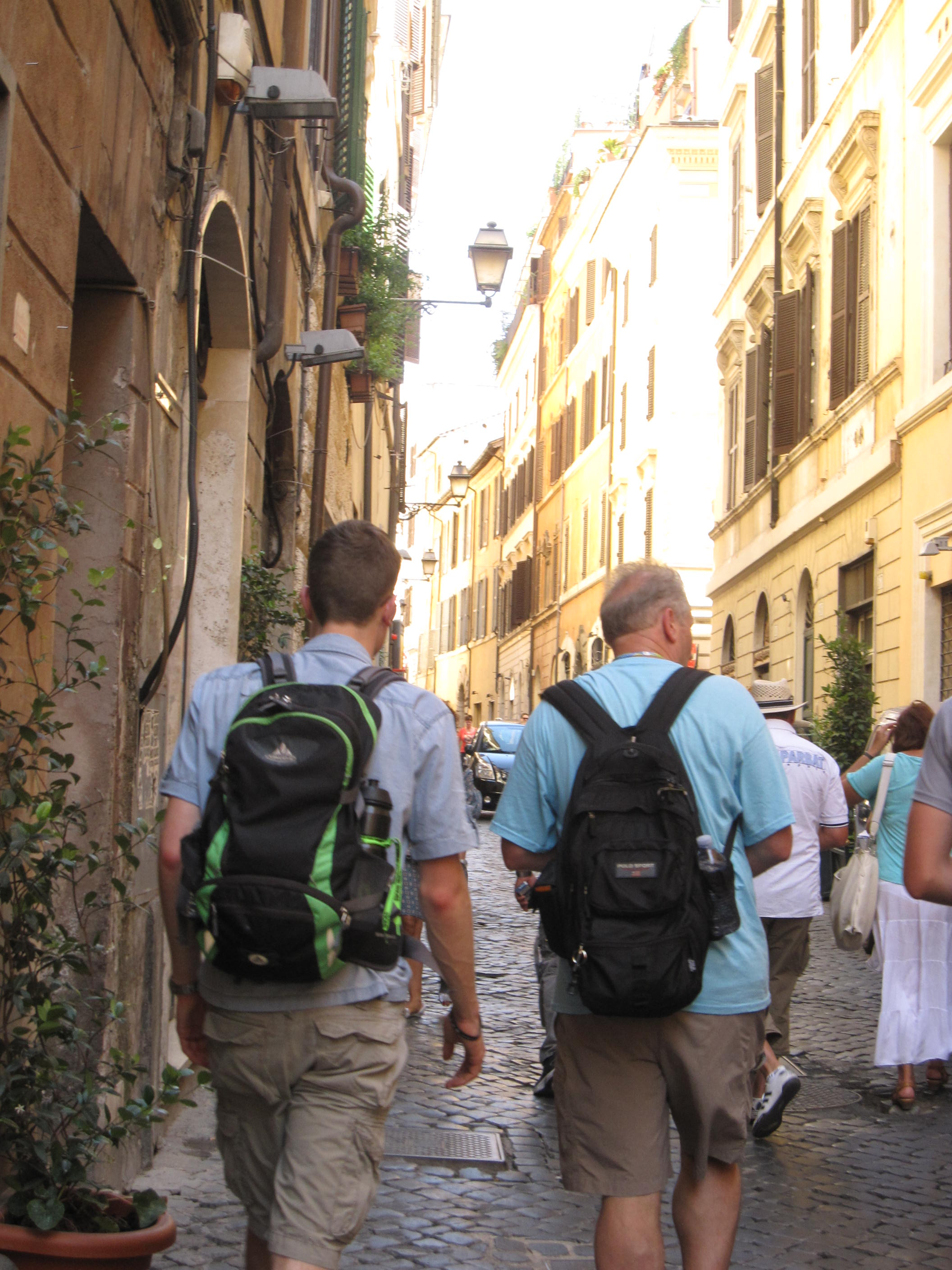 Onto the streets  Rome