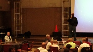 Richard being introduced by Pastor Gilbert